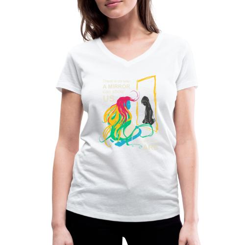 Mirrors - Women's Organic V-Neck T-Shirt by Stanley & Stella