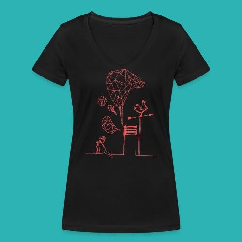 Carta_gatta_pink-png - T-shirt ecologica da donna con scollo a V di Stanley & Stella