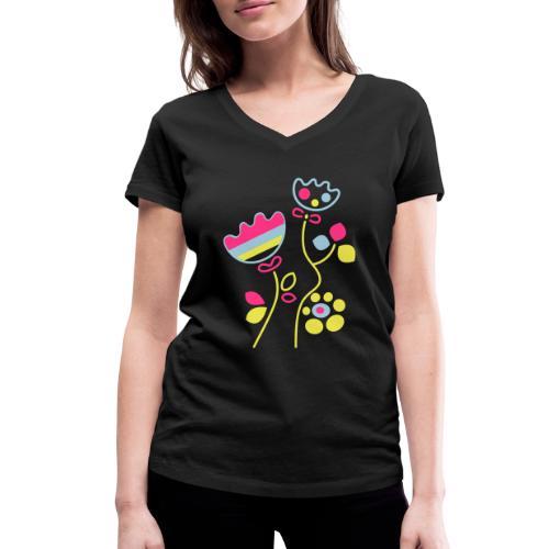 tulipani - T-shirt ecologica da donna con scollo a V di Stanley & Stella