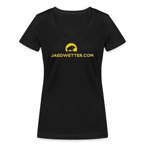jagdwetter url bildmarke - Frauen Bio-T-Shirt mit V-Ausschnitt von Stanley & Stella
