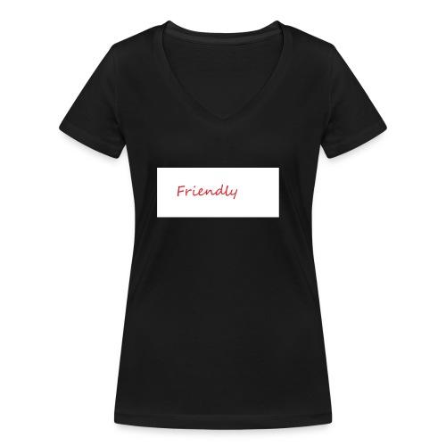 Friendly - Frauen Bio-T-Shirt mit V-Ausschnitt von Stanley & Stella