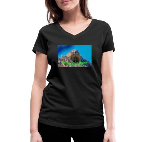 Servus in den Bergen - Frauen Bio-T-Shirt mit V-Ausschnitt von Stanley & Stella