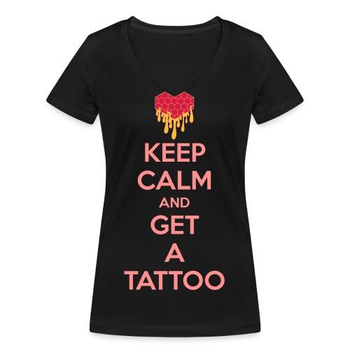 Get a tattoo Keep Calm - T-shirt ecologica da donna con scollo a V di Stanley & Stella