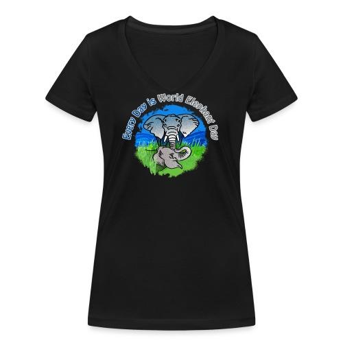 Every Day Is World Elephant Day - Frauen Bio-T-Shirt mit V-Ausschnitt von Stanley & Stella