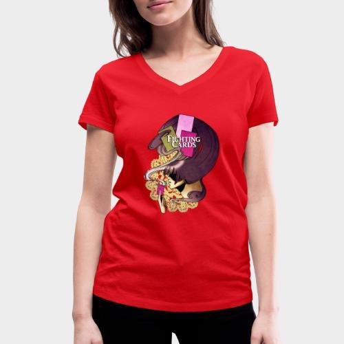 Fighting cards - Invocateur - T-shirt bio col V Stanley & Stella Femme