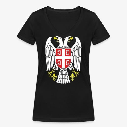 Serbien Adler - Frauen Bio-T-Shirt mit V-Ausschnitt von Stanley & Stella