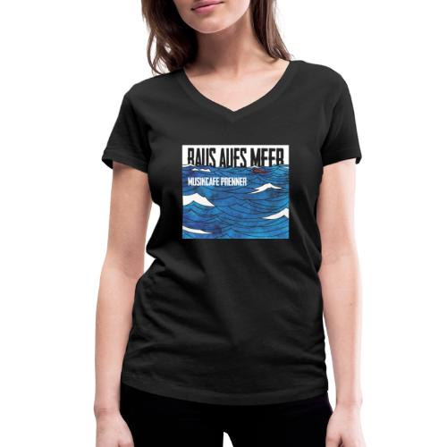 Raus aufs Meer quadratisch - Frauen Bio-T-Shirt mit V-Ausschnitt von Stanley & Stella
