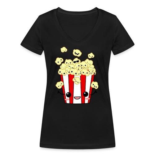 PopCorn - Camiseta ecológica mujer con cuello de pico de Stanley & Stella