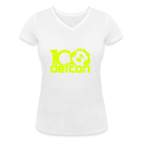 defcon100solidlight - Women's Organic V-Neck T-Shirt by Stanley & Stella