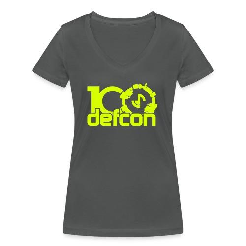 defcon100solidlight - Women's Organic V-Neck T-Shirt by Stanley & Stella