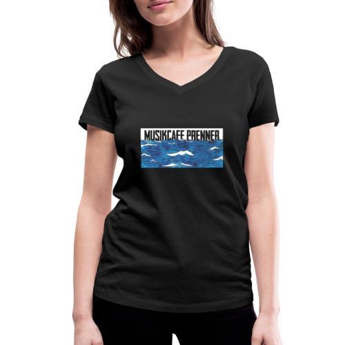 Musikcafe Prenner Schriftzug - Frauen Bio-T-Shirt mit V-Ausschnitt von Stanley & Stella