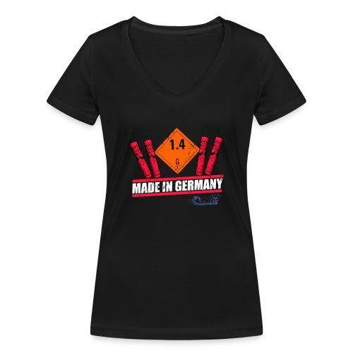 Global Fireworks 1.4G - Frauen Bio-T-Shirt mit V-Ausschnitt von Stanley & Stella