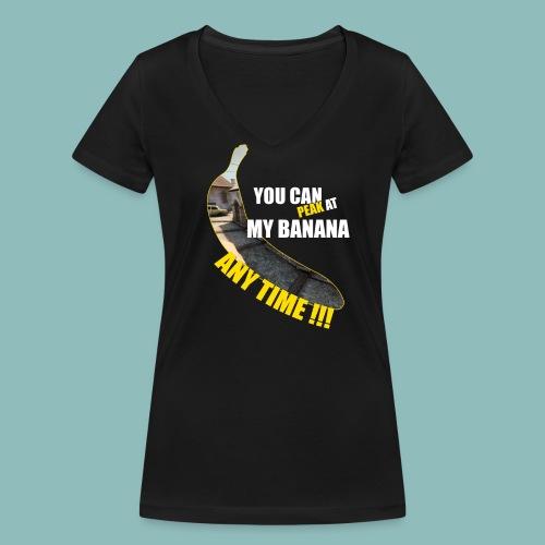 Peak my banana! - Frauen Bio-T-Shirt mit V-Ausschnitt von Stanley & Stella