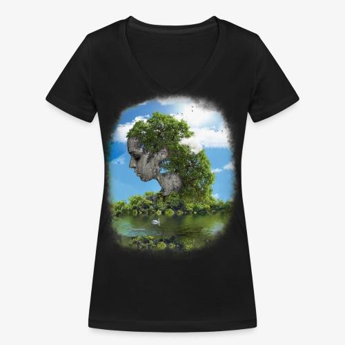 Land of Id - Ekologisk T-shirt med V-ringning dam från Stanley & Stella