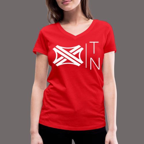Tregion logo Small - Women's Organic V-Neck T-Shirt by Stanley & Stella