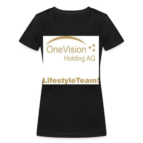 t shirt in GOLD - Frauen Bio-T-Shirt mit V-Ausschnitt von Stanley & Stella