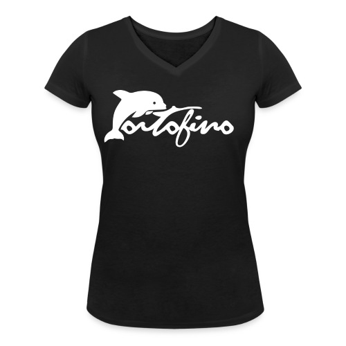portofino 2019 WHITE - Women's Organic V-Neck T-Shirt by Stanley & Stella