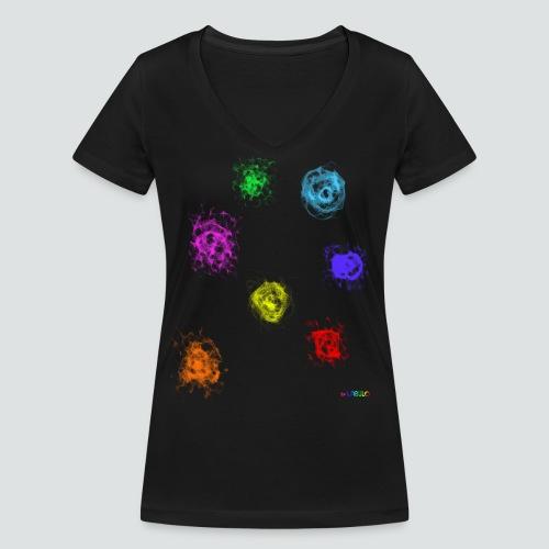 Farben png - Frauen Bio-T-Shirt mit V-Ausschnitt von Stanley & Stella