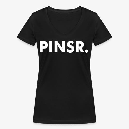 PINSR. Black - Vrouwen bio T-shirt met V-hals van Stanley & Stella