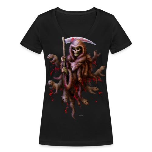 Death loves Fur - Frauen Bio-T-Shirt mit V-Ausschnitt von Stanley & Stella
