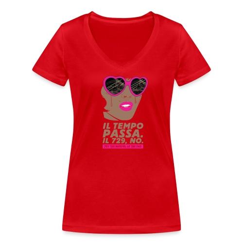 729 scuro Copy Tempo - T-shirt ecologica da donna con scollo a V di Stanley & Stella