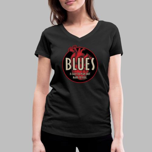 Blues is easy to play - Frauen Bio-T-Shirt mit V-Ausschnitt von Stanley & Stella