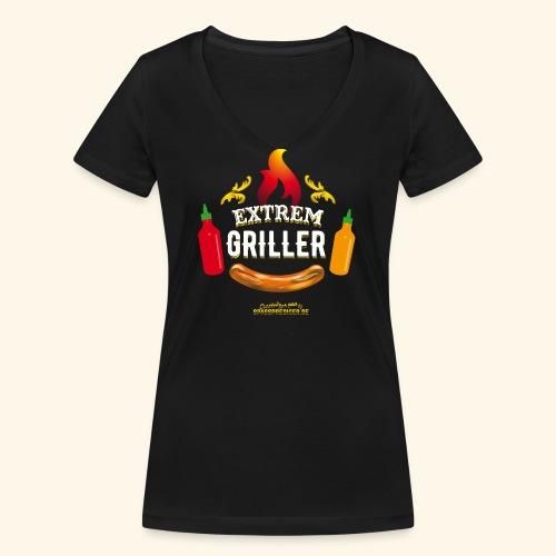 Extremgriller - Frauen Bio-T-Shirt mit V-Ausschnitt von Stanley & Stella
