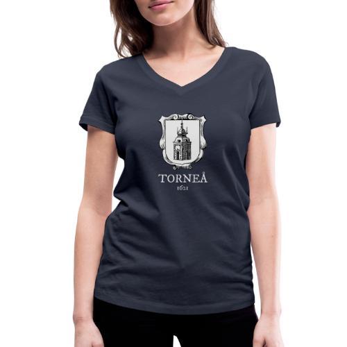 Torneå 1621 vaalea - Stanley & Stellan naisten v-aukkoinen luomu-T-paita