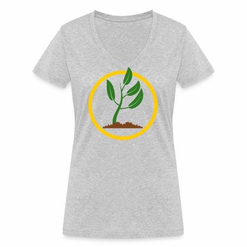 Setzlingemblem - Frauen Bio-T-Shirt mit V-Ausschnitt von Stanley & Stella