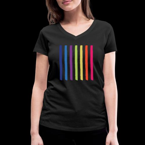 Lines - Women's Organic V-Neck T-Shirt by Stanley & Stella