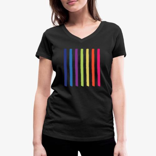 Linee - T-shirt ecologica da donna con scollo a V di Stanley & Stella