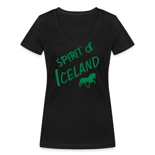 4gaits ruecken - Frauen Bio-T-Shirt mit V-Ausschnitt von Stanley & Stella