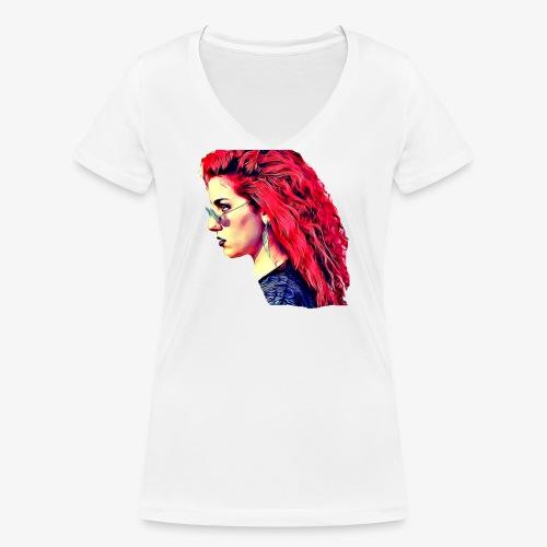 MINERVA - Camiseta ecológica mujer con cuello de pico de Stanley & Stella