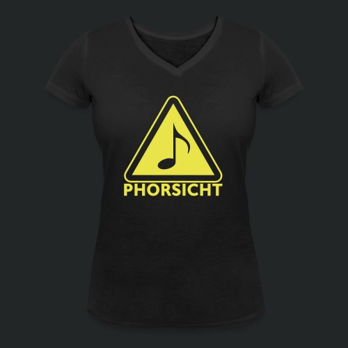 Pulli-schwarz-hinten - Frauen Bio-T-Shirt mit V-Ausschnitt von Stanley & Stella
