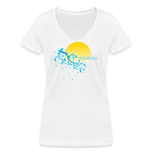 Cherry Blossom Festval Full Moon 2 - Frauen Bio-T-Shirt mit V-Ausschnitt von Stanley & Stella