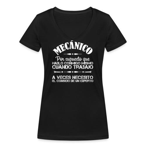 Mecánico: Necesito el consejo de un experto - Camiseta ecológica mujer con cuello de pico de Stanley & Stella