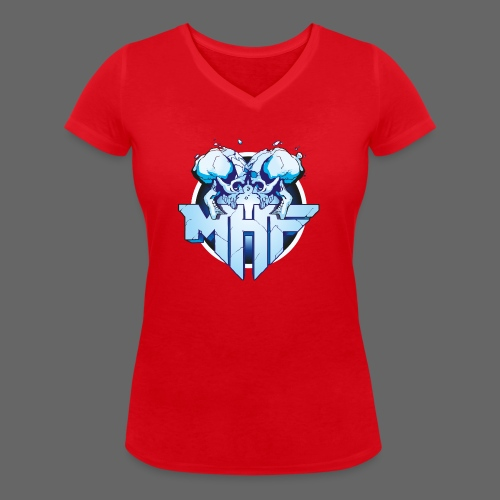 MHF New Logo - Women's Organic V-Neck T-Shirt by Stanley & Stella