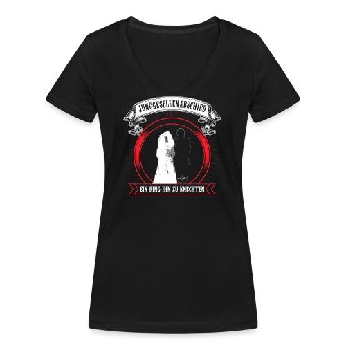 Help ME - Frauen Bio-T-Shirt mit V-Ausschnitt von Stanley & Stella