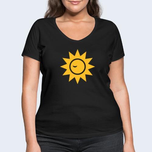 Winky Sun - Vrouwen bio T-shirt met V-hals van Stanley & Stella