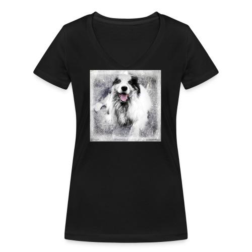 Cody bw - Frauen Bio-T-Shirt mit V-Ausschnitt von Stanley & Stella