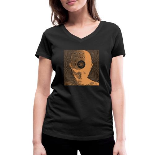 Free-Mind ShriYantra gold - Frauen Bio-T-Shirt mit V-Ausschnitt von Stanley & Stella