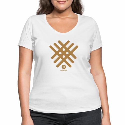 Maladesign - Stanley & Stellan naisten v-aukkoinen luomu-T-paita