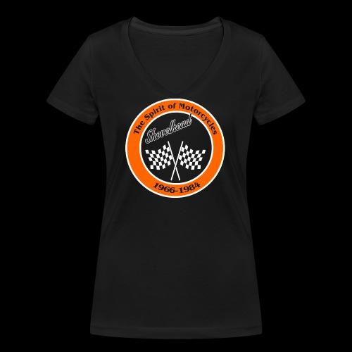 Zielflagge Shovelheat - Frauen Bio-T-Shirt mit V-Ausschnitt von Stanley & Stella