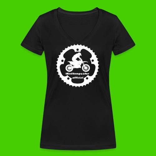 KettenquälerPulli - Frauen Bio-T-Shirt mit V-Ausschnitt von Stanley & Stella