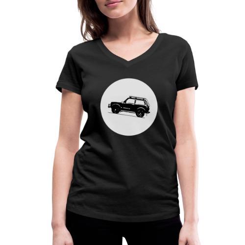 Lada Niva Kreis - Frauen Bio-T-Shirt mit V-Ausschnitt von Stanley & Stella