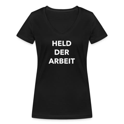 Held der Arbeit - Frauen Bio-T-Shirt mit V-Ausschnitt von Stanley & Stella