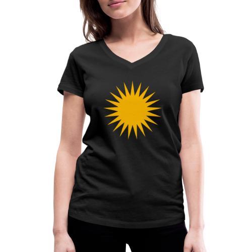 Kurdische Sonne Symbol - Frauen Bio-T-Shirt mit V-Ausschnitt von Stanley & Stella
