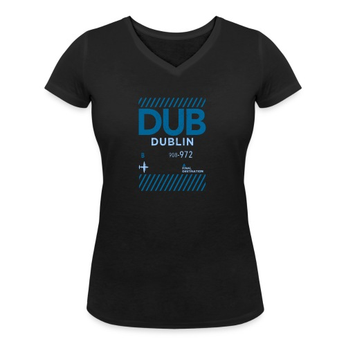 Dublin Ireland Travel - Women's Organic V-Neck T-Shirt by Stanley & Stella