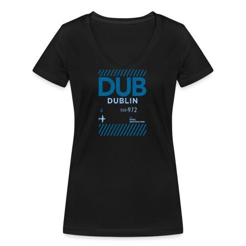 Dublin Ireland Travel - Women's Organic V-Neck T-Shirt by Stanley & Stella