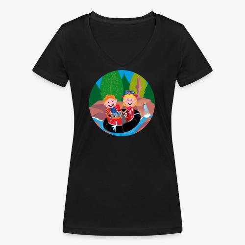 Themepark: Rapids - Vrouwen bio T-shirt met V-hals van Stanley & Stella